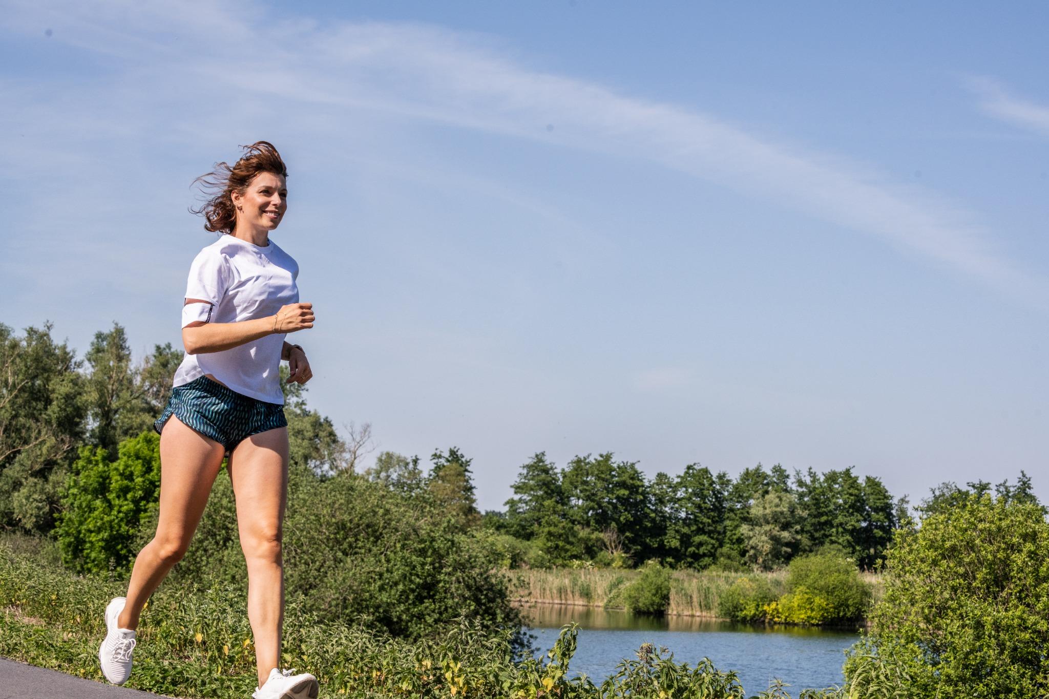 Evy Gruyaert running